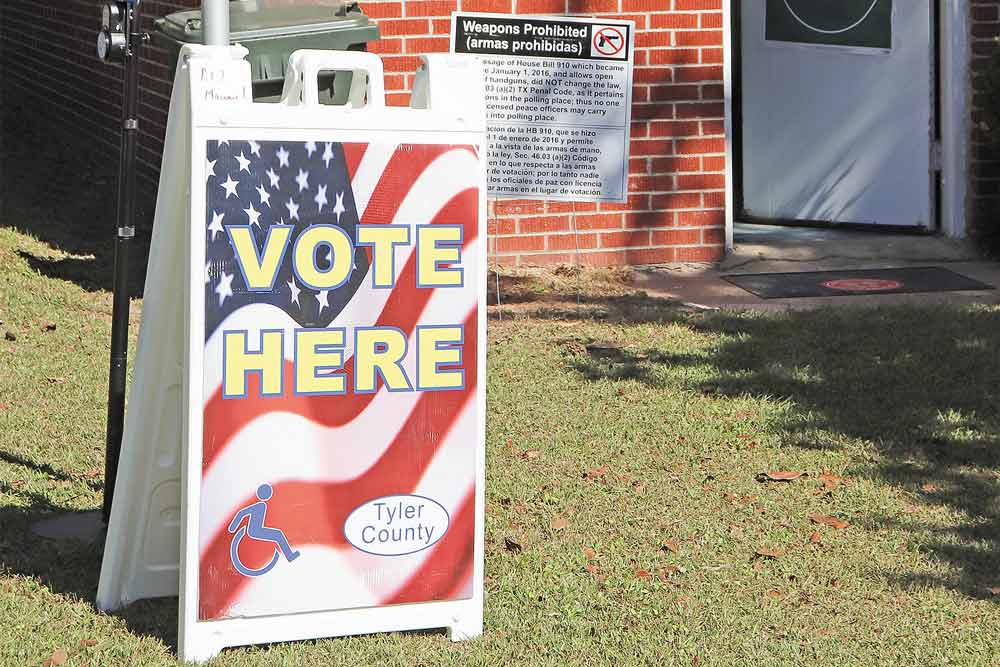 Voters in Tyler County turned out to polling places on Election Day in smaller numbers than those who chose to vote early. (CHRIS EDWARDS | EASTTEXASNEWS.COM PHOTO)